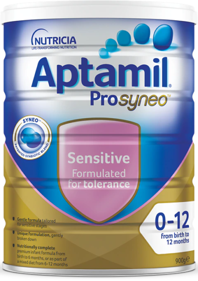 Aptamil Prosyneo Sensitive, from birth to 12 months