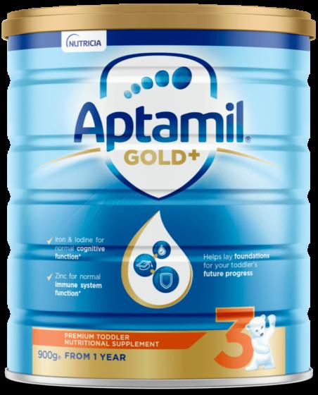 Aptamil Gold +, Toddler Milk Drink, From 12 Plus Months, 900g