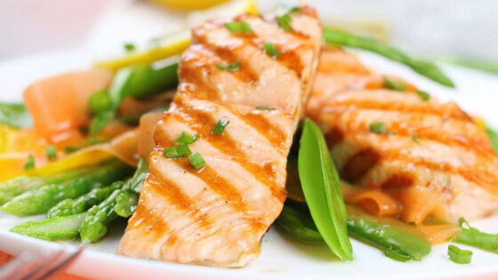 Salmon dish with iodine for pregnancy