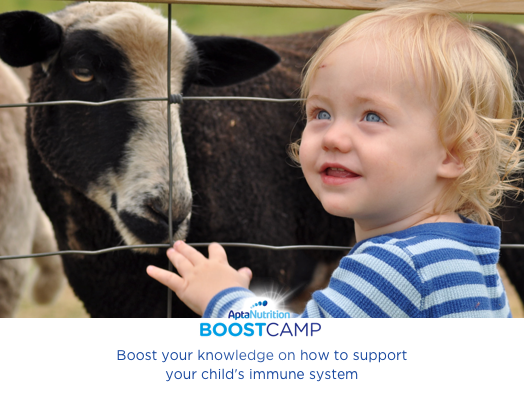 Baby with goat immune system boostcamp aptamil