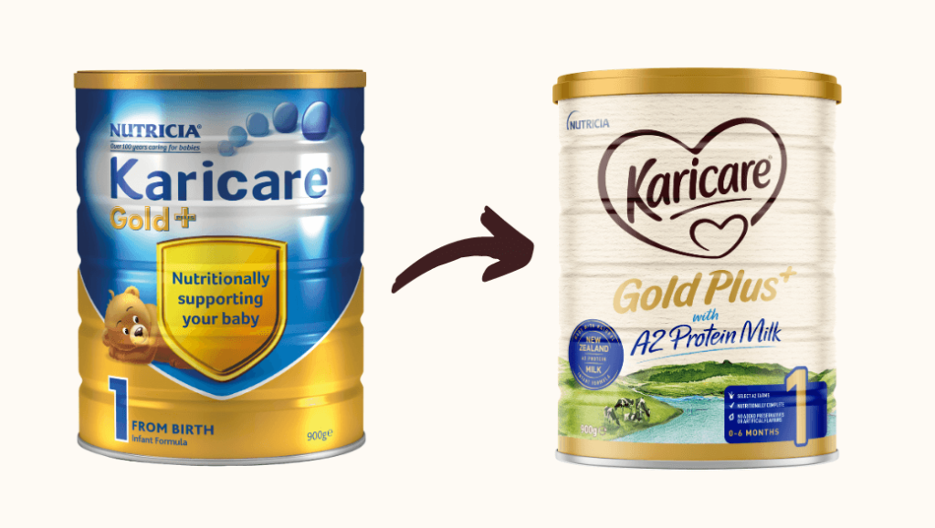 New Look Tin of Karicare Gold+ with A2 Protein Milk (Stage 1)