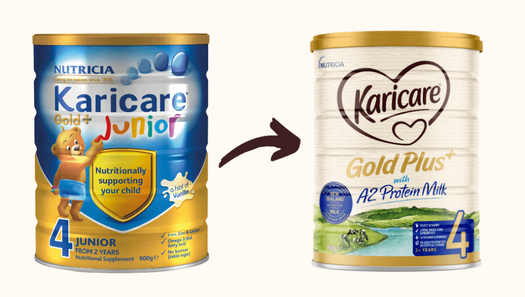 New Look Tin of Karicare Gold+ with A2 Protein Milk (Stage 4)